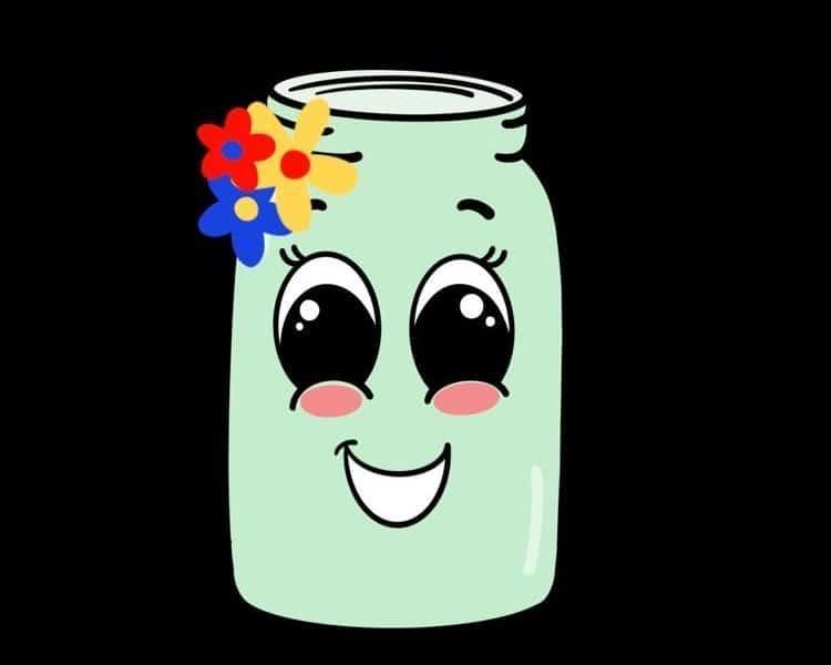 illustration of a smiling green tip jar