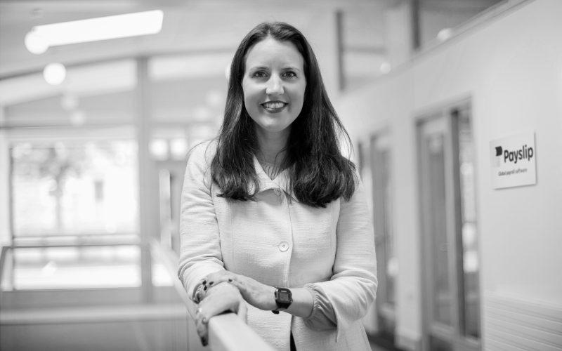 smiling empowered female irish fintech entrpreneur